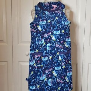 Lilly Pulitzer Shift Dress Lined Corduroy Size 12